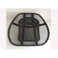 Quality Plastic Lumbar Support Cushion For Car With Massage Bead Black Color for sale