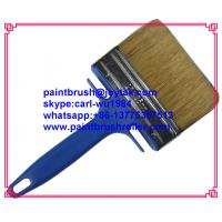 China Paint brush Natural pure bristle Chinese bristle synthetic mix wood handle factory made 1 inch PB-008 on sale