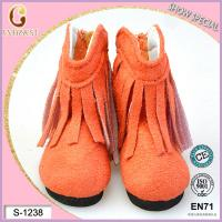 China cotton oranger doll boots rubber sole doll shoes wholesale on sale