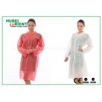 Quality PP Disposable Lab Coats , custom disposable lab gowns Protective with Snap for sale