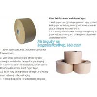 Water-activated Reinforce Kraft Gummed Paper Tape for Sealing & Strapping,Self