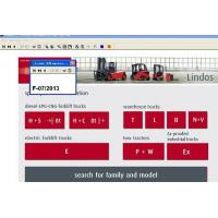 China Microsoft Support Forklift Diagnostic Tools For Linde , Parts Catalog EPC on sale