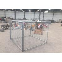 Quality High Strengh Temporary Rubbish Cage , Hot Dipped Galvanized Waste Cage for sale
