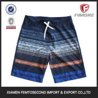 Quality Men's 100% Polyester Short colour strip printed Beach shorts board Shorts for sale
