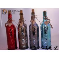 Quality Electroplate Finish Wine Bottle Led Lights With Paint Color / Words for sale
