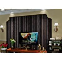 Quality Administration Luxury Black Velvet Flock Wallpaper Soundproof With Modern Style for sale