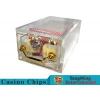 Quality Acrylic Casino Card Shoe 8 Deck Large Capacity With Bright Metal Lock for sale