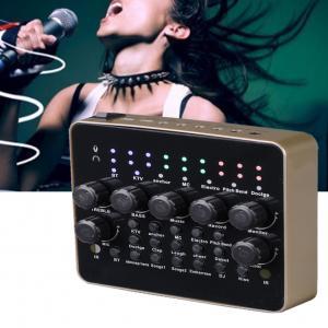 China Live Broadcast Singing Sound Card 3D Recording Mic Audio USB Port Headset Mixer on sale