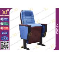 Quality Upholstered Ergonomic High Grade Fold Up Auditorium Seating / Movie Theater Chairs for sale