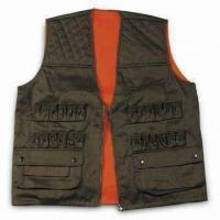 Quality Safety Vest with Zipper and Button, Made of Polyester and Cotton for sale