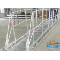 Quality Gangway Marine Boat Ladders Anodized Surface JIS Standard With Safety Net for sale