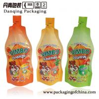 Quality Orange Beverage Foil Pouch Packaging Stand Up Plastic Bags ISO / BV / SGS for sale
