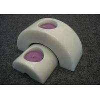 Quality Set 2 Natural Stone Candle Holders Hand Made Material Solid Marble Material for sale