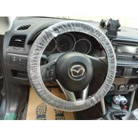 Quality White Color Disposable Plastic Seat Covers Dust Proof Keep Car Clean for sale