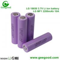 Geniune hot sale LG MF1 MF2 2200mah 10A/5C 18650 3.7V Li-ion battery for scooter / e-bike / power tools
