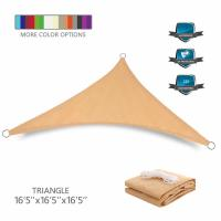 Quality Custom Triangle Sun Shade Canopy Sail Waterproof PU Coated Finishing for sale