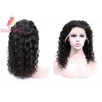 Quality 360 Lace Frontal Wig Human Hair , Virgin Indian Hair Italian Curly For Women Swiss Lace for sale