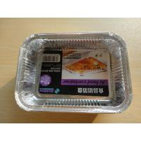 Quality Kitchen Recycling Aluminum Foil Containers / Aluminum foil dish Rectangle Shape for sale