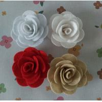 Quality Felt Rose Artificial Fabric Craft Flowers Use In Perfect Spring Bouquet for sale