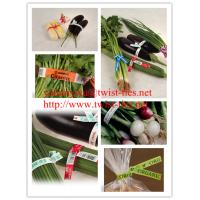 Quality paper and wired twist ties/tags for fresh vegetable for sale