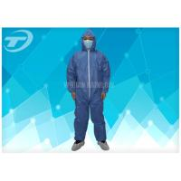 Quality Disposable Protective Clothing Non - Woven Disposable Coveralls With Hood for sale