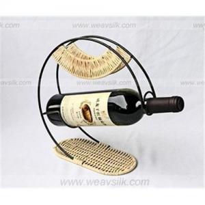 China Wicker wine holder, rattan wine rack on sale