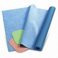 Quality Micro Fiber Rubber Mat for Hot Yoga Use, Customized Colors are Accepted for sale
