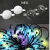 Quality 3m reel 6 LEDS DMX 3D led ball ws2811 led pixel string 50mm globe addressable balls 12v for sale