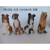 Quality Customized Design Polyresin Figurine Dog Garden Statues With Different Postures for sale