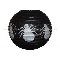 Quality Spider Patterned Printed Round Paper Lanterns for sale