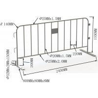 Quality Welding / Punched Cross Feet / Bridge Feet Crowd Control Barriers 1100mm*2200mm for sale