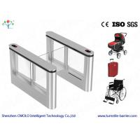 Buy cheap RFID Electronic Pedestrian Swing Turnstile Barrier Gate Systems from Wholesalers
