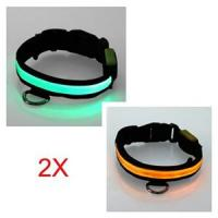 Quality Double Row Flashing LED Pet Collars for sale