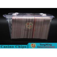 Quality Anti - Theft Transparent 8 Decks Poker Discard Holder For Card Entertainment for sale