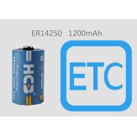 Quality 1/2AA UN UL CE RoHS Li-SOCl2 Battery ER14250 1200mAh 0.65mA For Smart Metering ETC for sale