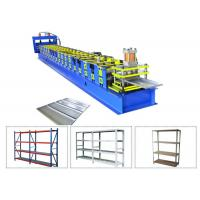 Quality High Speed Storage Rack Roll Forming Machine , Shelf Metal Steel Roll Forming Machine for sale