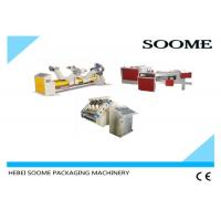 Quality Single Facer Carton Production Line , Auto - Cycle Corrugated Box Gluing Machine for sale