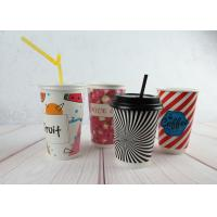 Quality Red / Black Personalized Insulated Paper Cups Custom Disposable Coffee Cups for sale