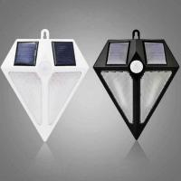 Quality Diamond Shape Solar Outdoor Wall 6 LED Light IP65 Water Proof Resistance PIR Motion Sensor 3 Modes Lights for sale