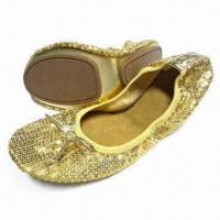 Quality Bendable Women's Blingbling Ballerina Shoes, Dancing Shoes, Available in Different Upper Designs for sale