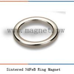 China Sintered NdFeB Ring Magnet N40SH on sale