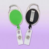 Quality Premium Carabiner Style Badge Reels with Slide Clip Back for sale