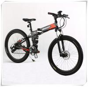 36V Folding Electric Bike 25 Km / H Max Speed Folding Electric Mountain Bike