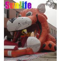 Quality inflatable tiger slide for sale