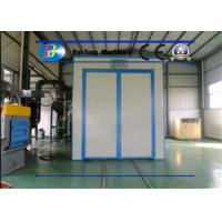Quality Indoor Air Sandblasting Room Customized Automatic Recycling System Iron Plate Materials for sale