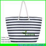 Quality LUDA striped women handbags fasion paper straw beach handbags for sale