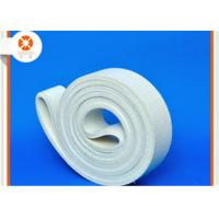 Quality White Sealing Felt Durable Polyester Belt , Felt Conveyor Belt Extrusion Initial Table for sale