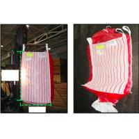 Quality Potato ventilated bulk bags 1.5tonne , red breathable PP fabric FIBC Bags for sale