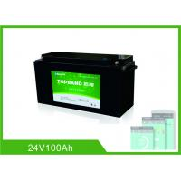 Quality 24V 100AH Deep Cycle Lithium Battery , UPS Rechargeable Lifepo4 Battery Bluetooth for sale
