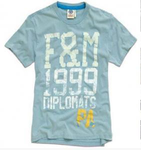 China Man's Round Neck Cotton T-Shirt (TEE002) on sale